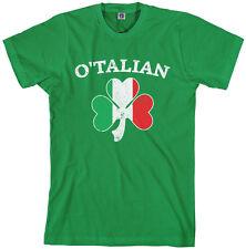 O'Talian Italian Irish Shamrock Men's T-Shirt Italy Flag