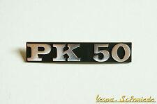 VESPA - Emblem Schriftzug Seitenhaube - PK50 / PK 50 - Gepäckfach - Chrom