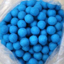 2.5cm PEACOCK BLUE Felt Wool Balls - CHOOSE QUANTITY - handmade bead pom poms