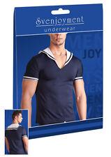 Svenjoyment Herren Shirt Sailor Matrosen-Look blau Neu