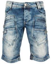 Redbrige Herren Kurze Hose Capri Cargo Jeans Shorts Denim Pants Blau Sommerhose