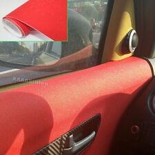 Air Free Car Matte Glitter Shining Diamond Sparkle Vinyl Wrap Sticker - Red AB