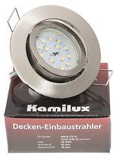 KAMILUX Ultra Flach LED Einbauleuchten Bajo K9451   5W   230V   Einbaustrahler