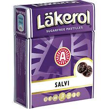 Läkerol ( Lakerol ) Salvi Sugar Free 25g ( 0.85 oz ) Made in Sweden