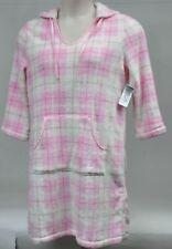 Nautica Sleepwear Plush Plaid Orchid Pink Hoodie Chemise Gown Robe MSRP $58