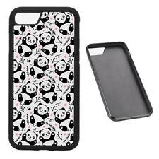 Cute Panda Print RUBBER phone case Fits iPhone