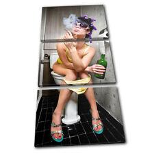 Smoking Girl Toilet  Urban TREBLE LONA pared arte Foto impresion
