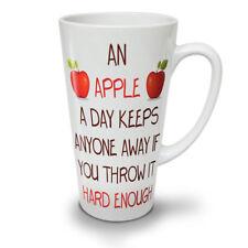 Día de Apple mantener lejos Nuevo Blanco Té Café Taza de café con leche 12 17 OZ (approx. 481.93 g)   wellcoda