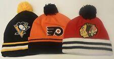 NHL Mitchell and Ness Pom Cuffed Knit Hat Beanie Cap M&N OSFA NEW!!
