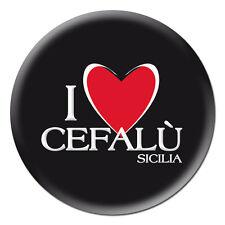 MAGNETE CALAMITA SPILLA PORTACHIAVI COLLANA CLIP SICILIA I LOVE CEFALU CUORE
