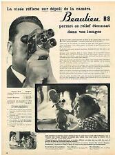 PUBLICITE ADVERTISING   1959    BEAULIEU  caméra R8