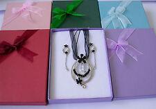 10 Jewellery set Box with Foam Inset 150x125x32mm For Necklace Earrings Bracelet