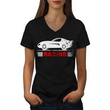 Top Sport Racing Auto Car Women V-Neck T-shirt NEW | Wellcoda