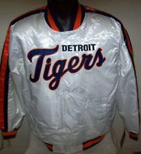 DETROIT TIGERS Starter Snap Down Jacket WHITE   M L XL