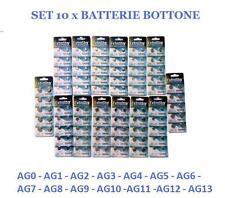 10 x BATTERIE BATTERIA BOTTONE PILE ALCALINE OROLOGI 1,5V CALCOLATRICE OROLOGIO
