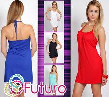 Sensible Beach Women's Wrap Dress Party Sleeveless Ladies Tunic Size 8-12 8429