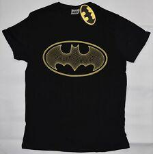 Primark Batman Da Uomo T-Shirt DC COMICS Nero & Giallo Nuovo Regno Unito taglie XS-XXL