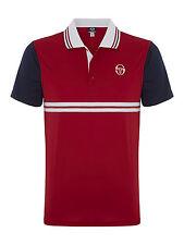 Men's Sergio Tacchini Primeur Polyester Performance Tennis Polo shirt - Red