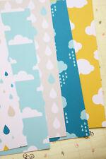 Rain & Clouds Card Stock 250gsm printed fancy cardstock wedding craft postcards