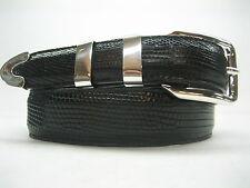 Genuine lizard belt size's 26 to 46.w/ sterling silver 925 buckle 4 pc set U.S.A