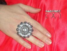 anello doppio dito MARGHERITA PL ARGENTO made in italy