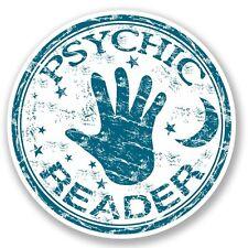 2 x Lettore psichica VINILE ADESIVO LAPTOP VIAGGIO BAGAGLI #4171