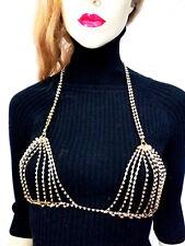 Rhinestone Body Jewelry Crystal Bikini Bra Beach Jewelry