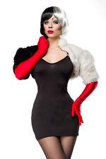 Costume CRUDELIA DEMON SEXY taglia S,M,L,XL,2XL,abito + bolerino + guanti