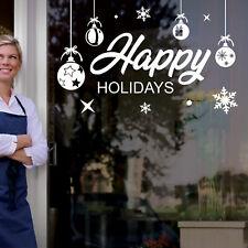 Christmas Shop Window Happy Holidays Display Xmas Wall Stickers Festive B56