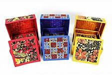 8 Pcs Coasters with Batik Box Colourful Design