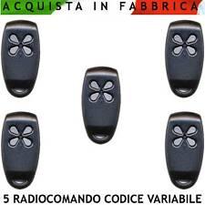 Radiocomandi 5 P. Bicanale 433,92 MHz Codice Variabile da 10 DipSwitch Aprimatic