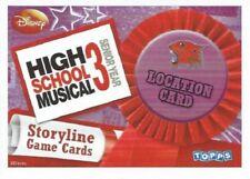 HIGH SCHOOL MUSICAL 3 STORYLINE SINGLES - LOCATION CARDS