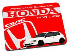 Honda Civic Personalised Mouse Mat