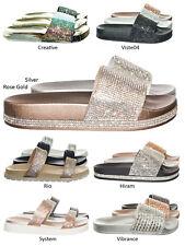 75d16f55322 Viste07 Rhinestone Slide In PVC Molded Footbed Flatform Sandal Slippers