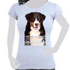 mujer camiseta con impresión algodón Polígono Talla S-XXL perro