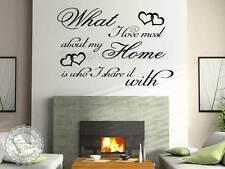 Adesivo Parete Famiglia Ispiratore Citazione Amore di più della mia casa Wall decor decal