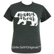 """Girlie Girl Originals """"Nana Bear"""" Short Sleeve Dark Heather T-Shirt"""