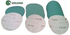 Oslong Green Film 6-Inch Hook and Loop Sanding Discs 5-Pack grits 40 - 3000