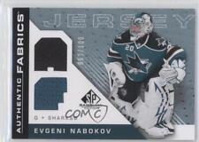 2007-08 SP Game Used Edition Authentic Fabrics Rainbow AF-EN Evgeni Nabokov Card