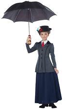 Brand New English Nanny Mary Poppins Inspired Child Costume
