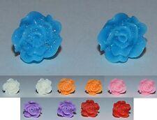 Glitter Resin Flower Stud Earrings - Buy 1 Get 1 Free - NEW (Style 6)
