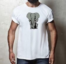 Elephant T-shirt 100% coton africain Indian animal sauvage safari jungle T Shirt