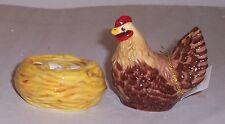 MWAH Hen on Nest Salt & Pepper Set magnetic