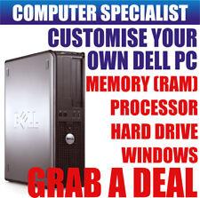 Fast DELL OPTIPLEX COMPUTER PC DESKTOP TOWER personalizzare RAM HDD processore Windows