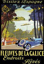 Visitar España-Coche Viaje anuncio arte cartel impresión vacaciones vacaciones A3