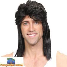 1980's 80s Mullet Wig Jason Donovan Pat Sharpe Mens Adult Fancy Dress Costume