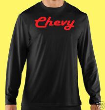 Long Sleeve T-Shirt,Truck, Auto, SUV, Motor Sports, Chevy Red, Cotton Blk.Gildan