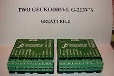 2 CNC GeckodriveG-213Vs+Extras Stepper motor Driver Gecko Router Mill Microsteps