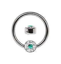 Piercing Bcr Breast Nose Ring 1,2mm +4mm Epoxy Rhinestone Plate Steel Size