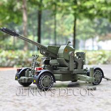 Diecast Military Model Toys Cannon 1:35 Anti-Aircraft Gun Artillery Replica